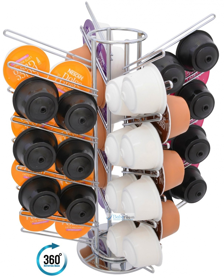 56 dolce gusto coffee pod rotating capsules holder revolving rotating babavoom. Black Bedroom Furniture Sets. Home Design Ideas