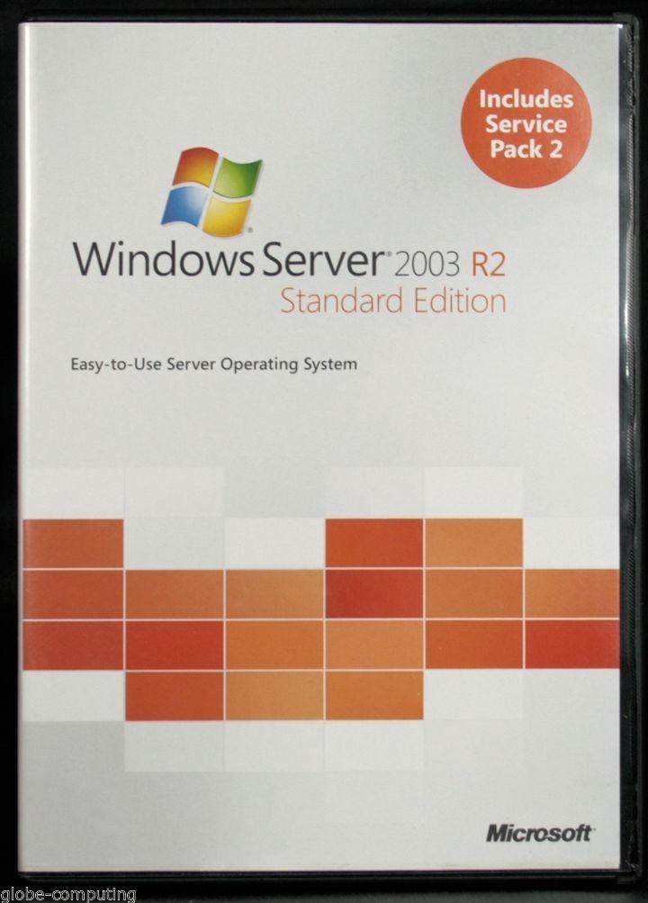 Original Windows Server 2003 Standard R2 Software