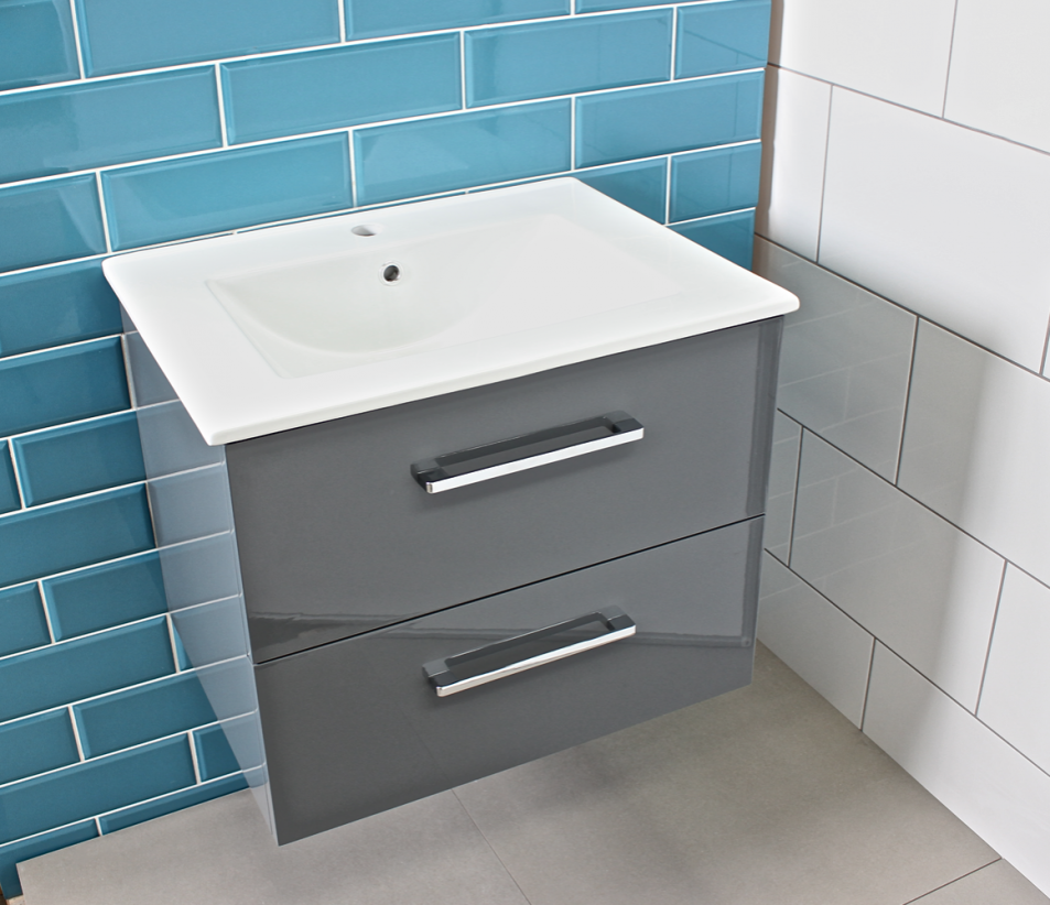 contemporary bathroom sink units modern gloss grey bathroom vanity unit amp countertop basin 17849